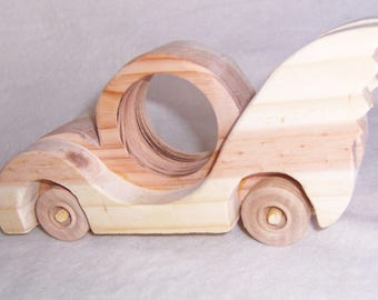 Winged Car Wood Handcrafted Toy for the Kids, Children, Boys, Girls