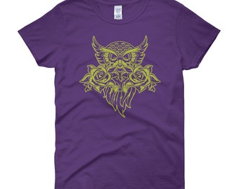 Girls owl shirt, owl tshirt, owl tee, owl t shirt, owl top