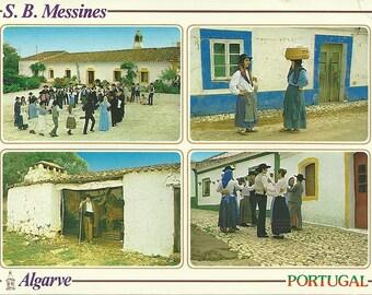 Vintage 1970s Postcard Sao Bartolomeu de Messines Algarve Portugal Rancho Folclorico Kitschy Unused