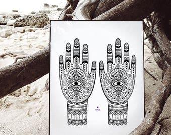 Hamsa ethnic print