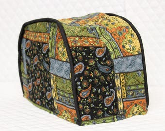 Black Patch Quilted Toaster Cover