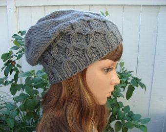 DIY - Knitting Pattern #25 Slouchy Knit Hat Pattern, Knit beanie Pattern, Knit hat Pattern, Size Teen/Adult, PDF Pattern