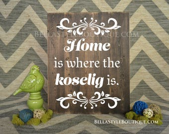 Home is where the koselig is Wood Sign 20x16