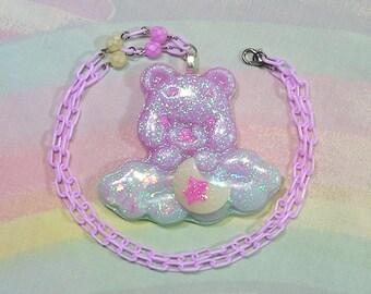 Fairy Kei Necklace, Pop Kei Necklace, Decora Necklace, Magical Girl Necklace, Kawaii Bear Necklace, Dreamy Necklace, Magical Girl Necklace
