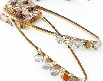 Czech crystal stainless steel earrings