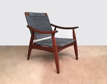 Danish Modern furniture, armchair, accent chair, handwoven lounge chair, mid century modern lounge chair, arm chairs, handcrafted furniture