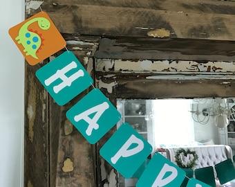 Dinosaur Happy Birthday Garland
