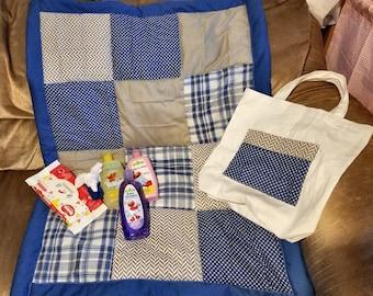 Baby Boy Quilt Giftset