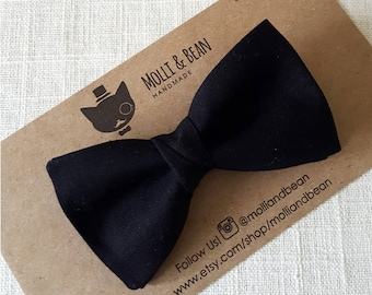 Boys Black Bow Tie, Toddler Black Bow Tie, Baby Black Bow Tie, Black Bow Tie, Bow Tie, Ring Bearer Bow Tie, Easter Bowtie, Boys BowTie