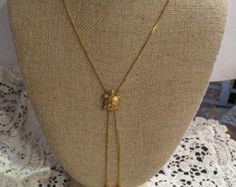 AVON Gold Turtle bolero style necklace
