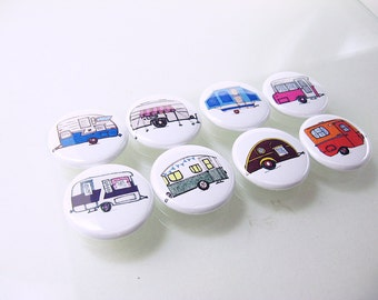 8 fridge camper rv pop up magnets, pins wine charms, vacation, camping, travel /  Home Living, Kitchen, Storage Organization 1248
