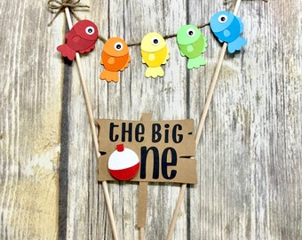 The Big One Cake Topper / Gone Fishing Cake Topper / Ofishally One
