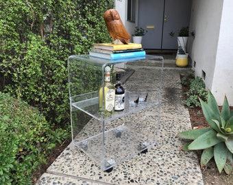 HOLLYWOOD REGENCY Lucite Bar Cart (Los Angeles)