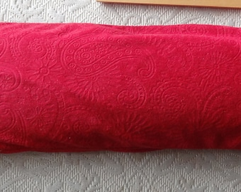 Best Ever Flax Seed Hot/Cold Bolster Pillow - Red Embossed