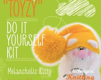 Tz-K001 Toyzy  Kit «Melancholic Kitty»- Technique Knitting