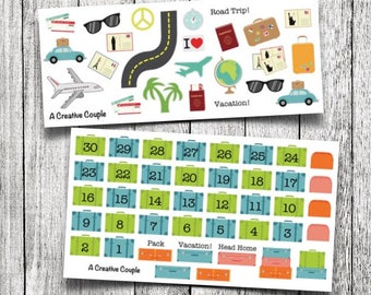 Vacation/Travel Planner Stickers