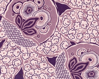 Andover Fabrics. Downton Abbey Sybils Bouquet in Mauve - Cotton Fabric - By the yard - Choose your cut