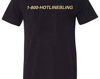 Hotline Bling T Shirt | Gold Foil Hotlinebling Tee