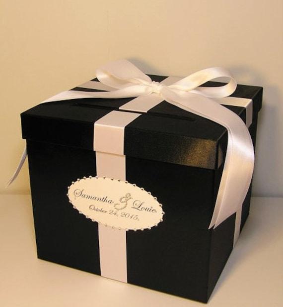 Wedding Card Gift Boxes: Wedding Card Box Black And White Gift Card Box Money Box