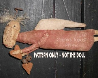 Angel epattern-NOT DoLL, Isabella Portini doll Crows Roost Prims 364e Primitive epattern SALE immediate download
