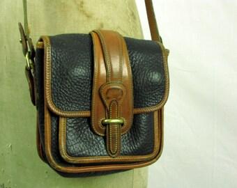 Vintage 80s Dooney and Bourke Handbag | All Weather | Shoulder Bag | Made in USA | Leather | Crossover Bag