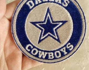 Dallas Cowboys Football 3.5 inch embroidered iron on patch