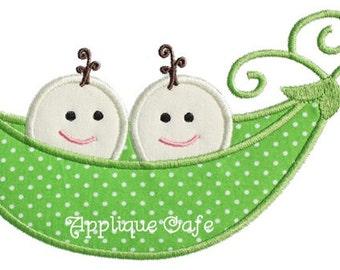 099 Pea Pod Machine Embroidery Applique Design