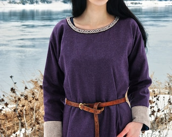 Early Medieval  dress made of wool. Made for order. Viking Kirtle Cote Garb  Viking costume, reconstruction.