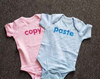 Infant Onsies for TWINS (set of 2)