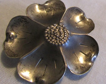 Sterling Silver Dogwood Flower Pin