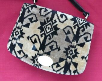 Meyers Tan and Black Aztec Chenille Handbag
