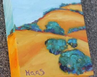 Original Oil Painting California Artist Golden Hills Artwork Gifts for Men Gifts for Women Fine Art Birthday Gifts Honeystreasures USA