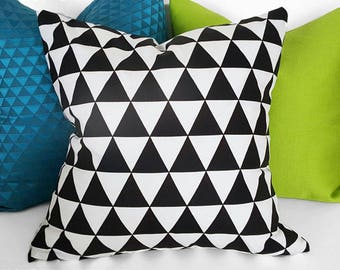 Decorative Pillows for Couch, Black White Pillow, Triangles Pillow, Modern Pillows, Throw Pillow Covers, Geometric, Modern Cushion, 18, 20