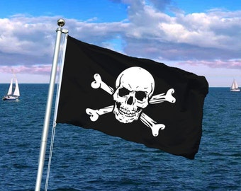 Jolly Roger Pirate Boat Flags - Vendors, Businesses, Bands, Clubs, Teams, Weddings, Parties, Special Occasions - Your Design or Logo!