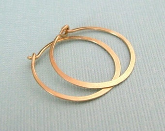 "SMALL 3/4"" (20mm) 14K gold filled hoop earrings"