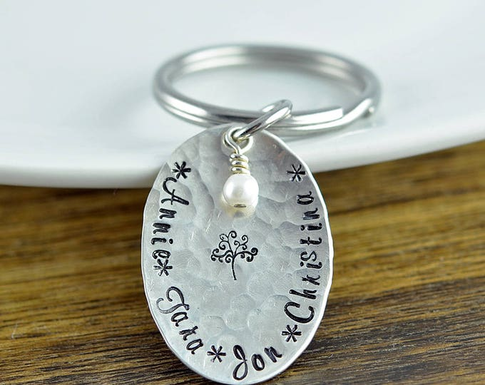 Family Tree Keychain - Mother's Keychain - Tree of Life Key chain - Family Tree Jewelry - Grandmother Gift - Mothers Day Gift