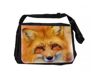 Fox Cub Black School Shoulder Messenger Bag