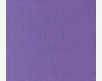 "Fabric Remnant, Crocus Kona Cotton, Purple Fabric, Robert Kaufman Fabrics, 28"""
