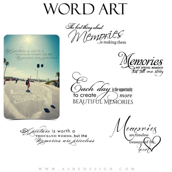 Photographic Memory Quotes: Inspirational Word Art Quotes Photo Overlays For Scrapbooking