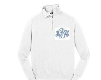 Monogram 1/4 sweatshirt pullover - 13 Popular Colors