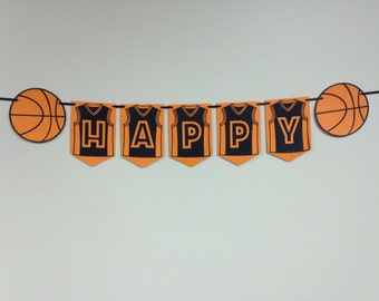 Basketball theme birthday banner, Basketball banner, Birthday banner