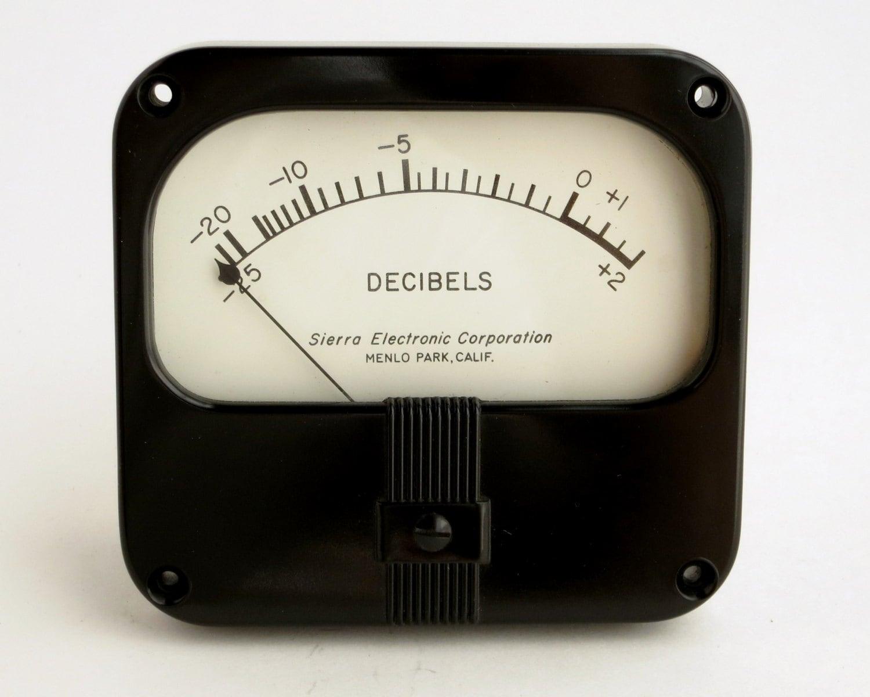 vintage Simpson VU meter made for Sierra Electronics analog