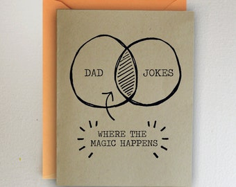 Dad Jokes: Where the magic happens ~ Father's Day Card