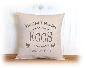 Chicken, Farm Fresh, Eggs, Pillow Cover