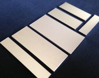 16 Gauge - Aluminum Rectangle Stamping Blanks, Aluminum Blanks, Stamping Blanks Co.