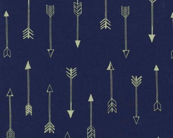 SALE - Michael Miller - Arrow Flight Collection - Arrows in Midnite Metallic