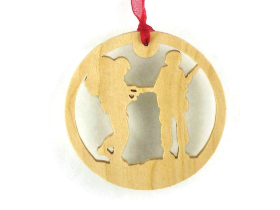 Soldiers Christmas Ornament Handmade From Birch Wood, Military Ornament, Servicemen Ornament,