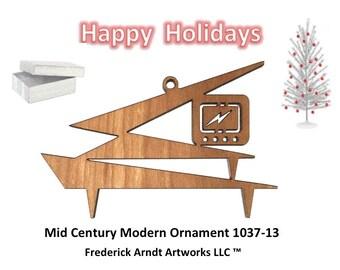 1037-13 Mid Century Modern Christmas Ornament