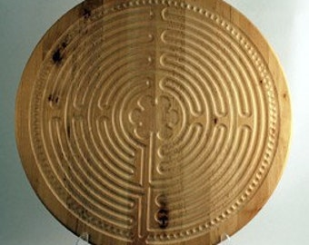 Finger Labyrinth - Color My Way -  Chartres Wooden Labyrinth