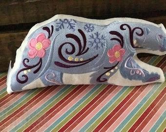 Polar bear plush pillow decor animal pillow decor, arctic animal decor, woodland bear pillow, woodland nursery decor, arctic animals